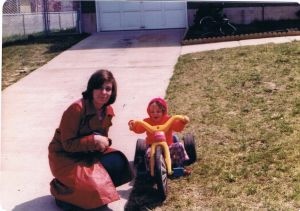 Me and my mom, May 1977