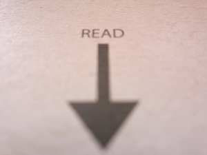 arrow to read