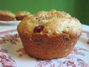 cran orange w background muffins